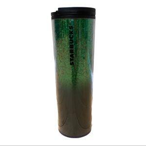 Starbucks green glitter 16 Oz tumbler
